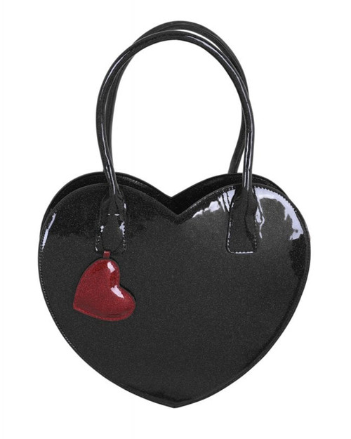 Collectif Valentine Heart Glitter Handbag