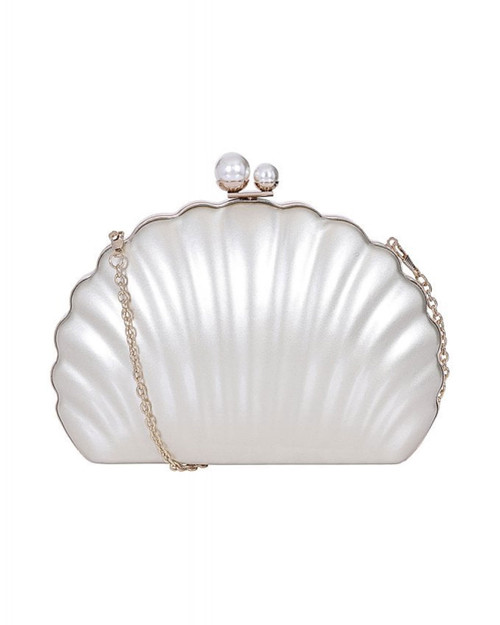 Collectif Seashell Hard Clutch - Silver