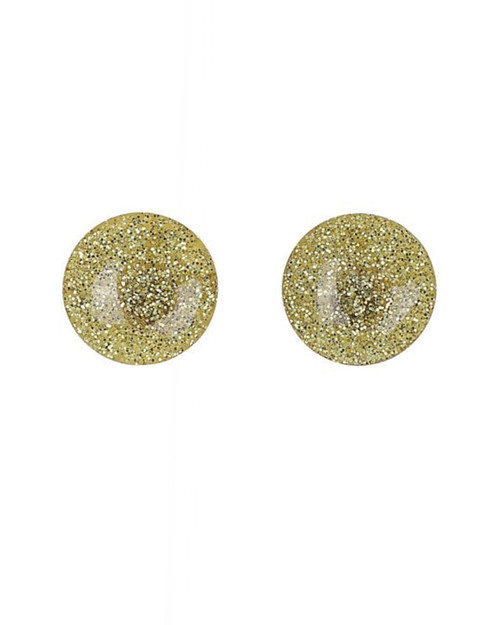 Collectif Sparkly Glitter Dome Earrings