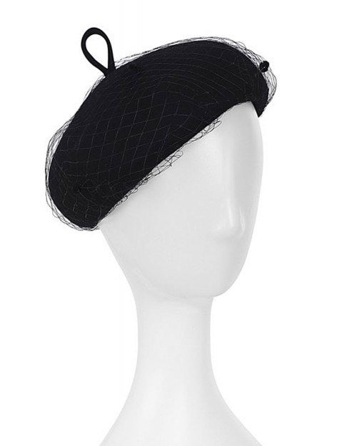 Collectif Lissy Vintage Inspired Net Hat - Black