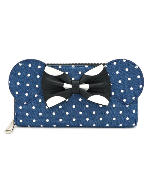 Loungefly x Disney's Minnie Mouse Denim Polka Dot Wallet