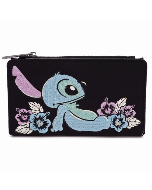 Loungefly x Disney's Stitch Satin Embroidered Wallet
