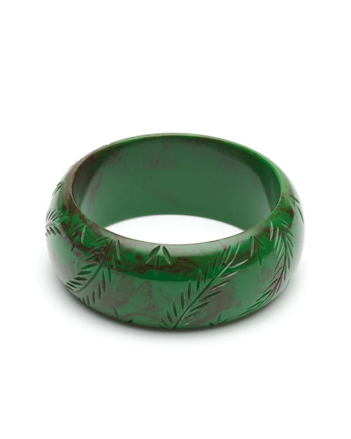 Splendette Retro Wide Fern Fakelite Bangle