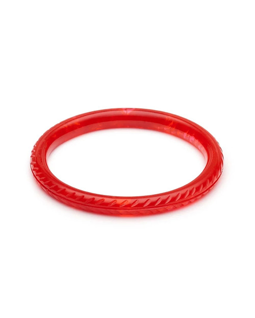 Splendette Narrow Poppy Red Fakelite Bangle