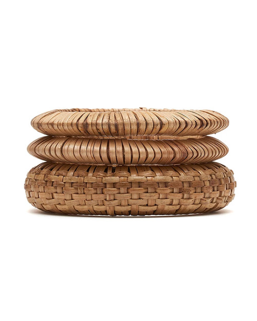 Splendette Woven Bamboo Bangle Set - Natural