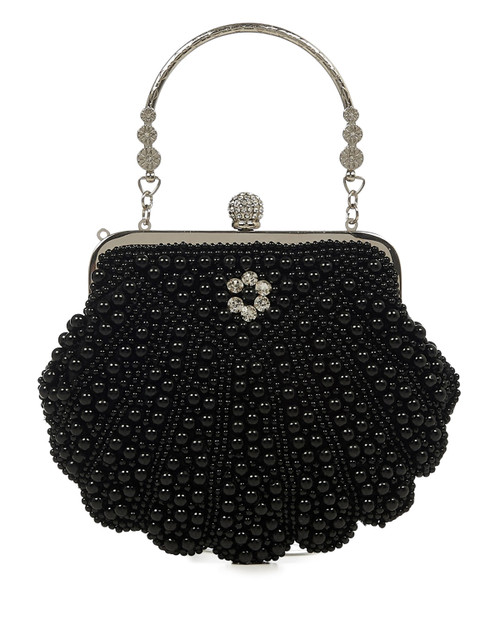 Banned Apparel 1920s Style Eleanor Beaded Clutch-Front