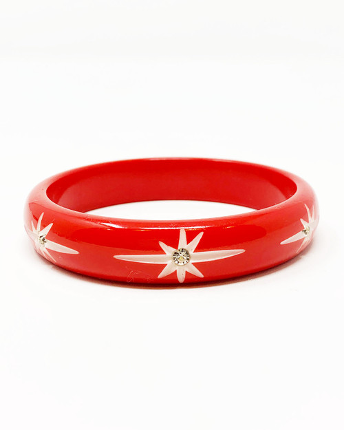 Splendette Midi Starburst Red Fakelite Bangle