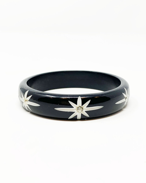 Splendette Midi Starburst Black Fakelite Bangle