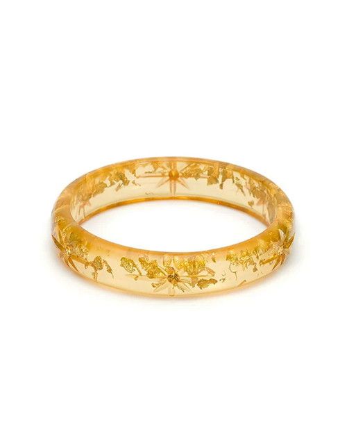 Splendette Midi Starburst Foil Gold Fakelite Bangle