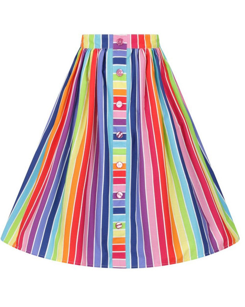 Hell Bunny 1950's Over The Rainbow Skirt- Front
