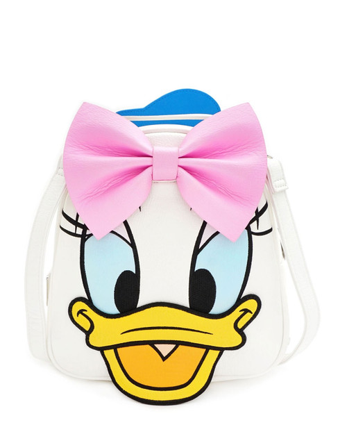 Loungefly x Disney's Donald and Daisy Duck Reversible Mini Backpack-Daisy front view