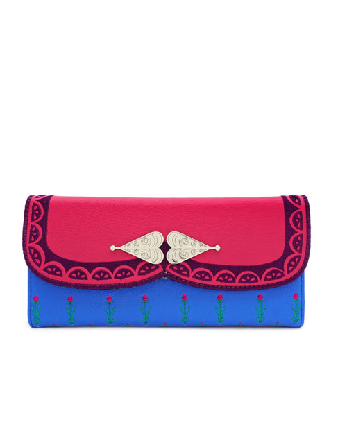 Loungefly x Disney's Frozen Anna Trifold Wallet Multicolored-Front View