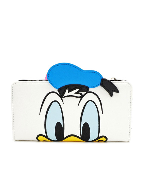 Loungefly x Disney's Donald and Daisy Duck Reversible Wallet- Donald Front View