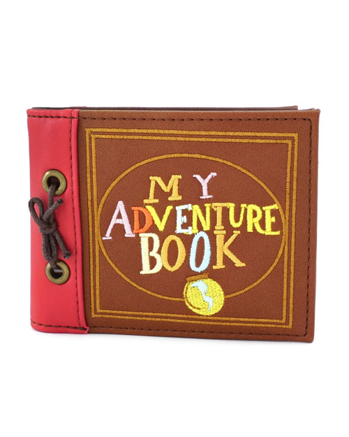 Loungefly x Disney's UP My Adventure Book Bi-fold Wallet-Brown Front View