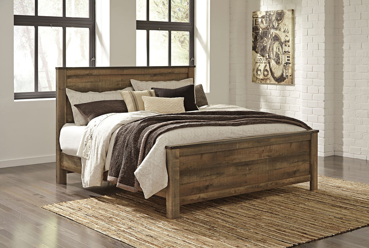 440fe133bc87fe The Trinell King Panel Bed available at Logan Furniture serving Dorchester,  MA.