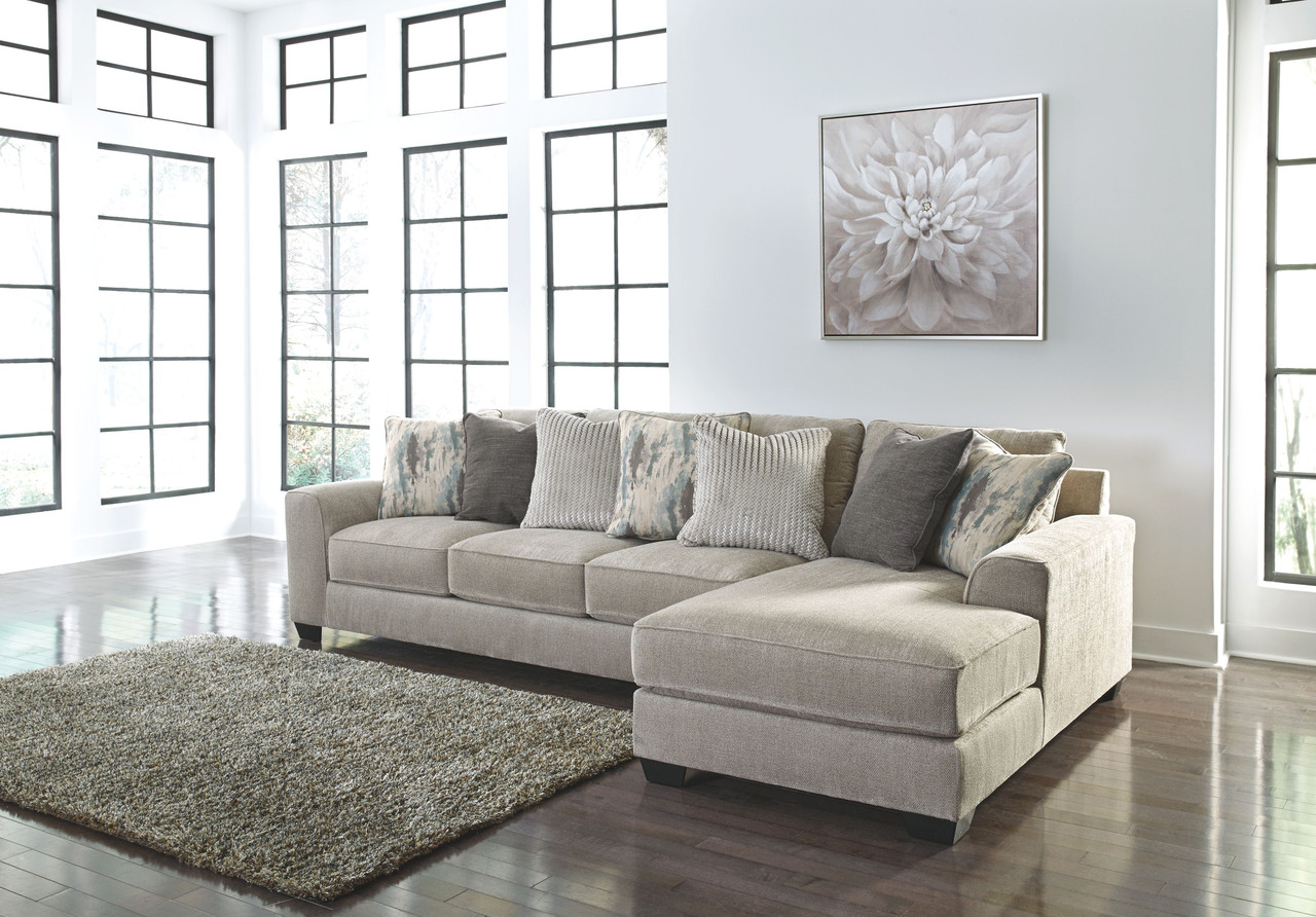 Ardsley Pewter LAF Sofa/Couch & RAF Corner Chaise Sectional