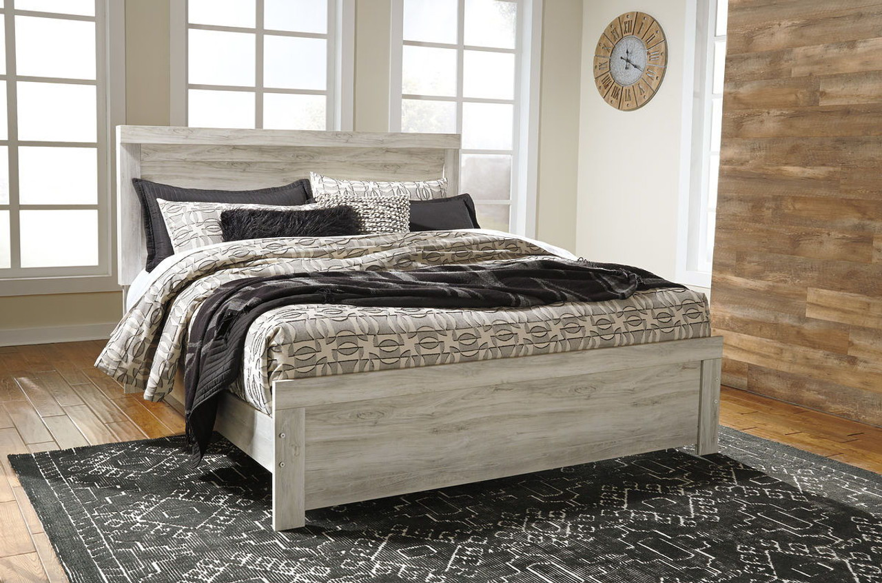 The bellaby whitewash king panel bed available at logans furniture serving avon ma and surrounding areas