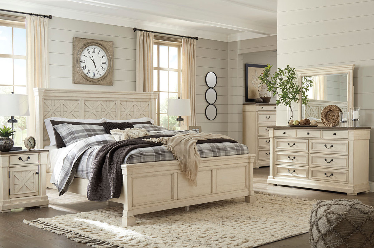 The Bolanburg Two-tone 8 Pc.Queen Panel Bedroom Collection available ...