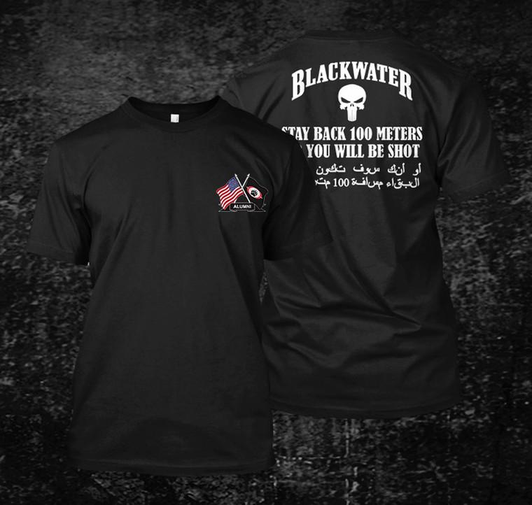BLACKWATER Alumni Academi Military Black T-Shirt