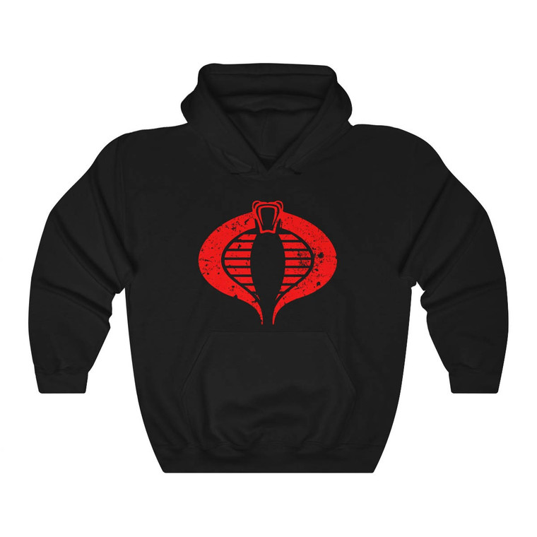 Cobra Commander Scratch Logo Black Hoodie