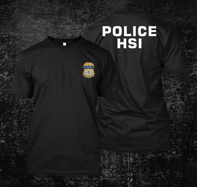 HSI Homeland Police Black T Shirt