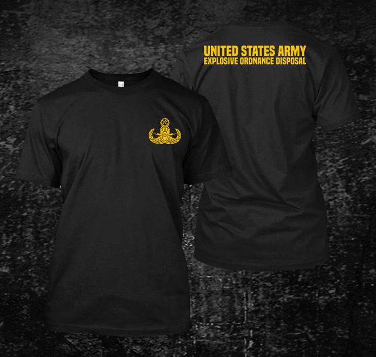 US Army EOD Black  t-shirts