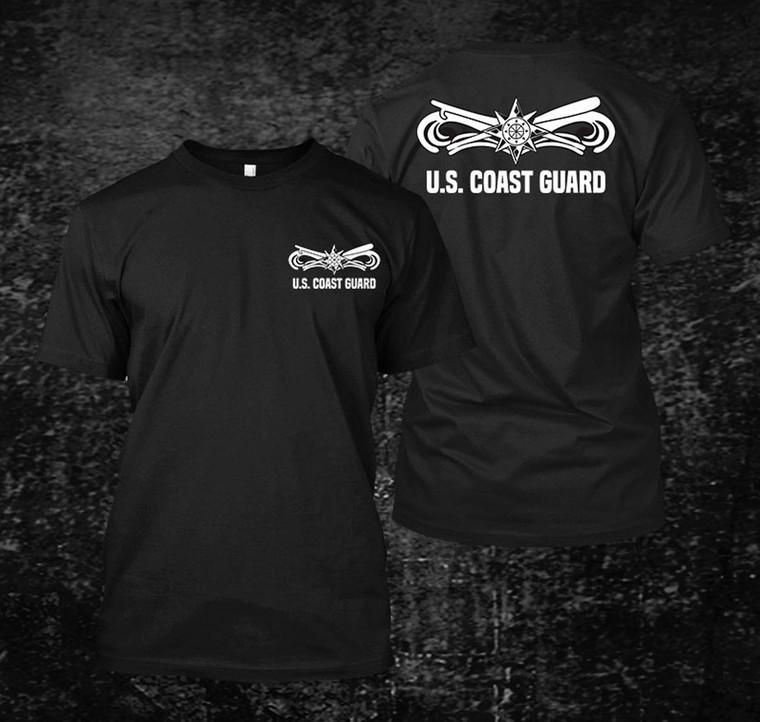 US Coast Guard Boat Force Black Shirt