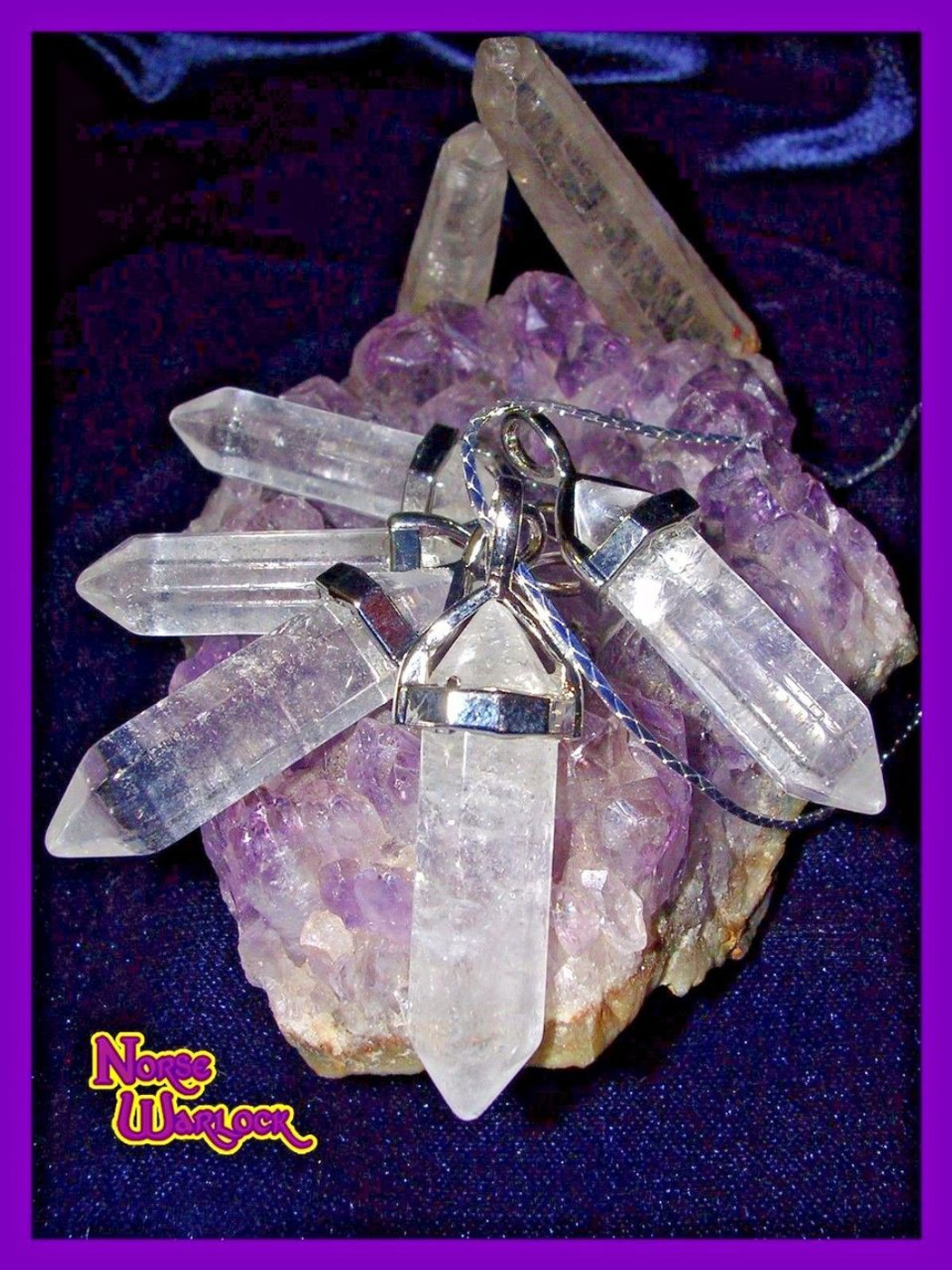 White Energy Purification Crystal Pendant Clears Way for Your Blessings!