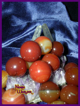 Three Carnelian Sphere Crystal Balls for Courage and Confidence