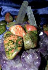 Three Metaphysical Unakite Gemstones for Unconditional Love