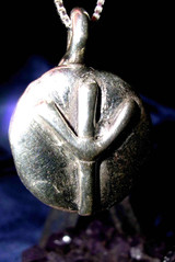Elhaz Rune Pendant of Victory, Justice and Success, Algiz Viking