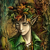 Charming Young Oliver, Dryad of Laughter, Wine, Music, Joy & Good Luck! fairy norsewarlock norse warlock