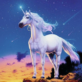 Gentle, Noble Unicorn Spirit Uses His White Magick for Joy and Prosperity!
