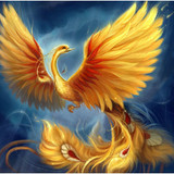Glorious Golden Phoenix of Rebirth & Success! Rise from the Ashes!