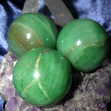 3 Aventurine Gemstone Sphere Crystal Balls for Good Luck & Opportunity!