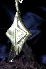 Magick Success Rune Silver Thurisaz Pendant, Metaphysical Jewelry