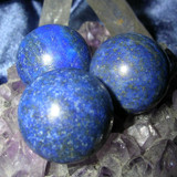 Three Lapis Lazuli Gemstone Crystal Balls for Protection & Creativity!