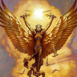 Golden Guardian Angel of Courage, Protection and Abundance
