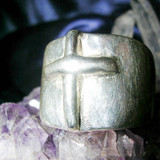 Master Merlin Legacy Knights of The Round Table Protection Cross Ring! RARE!