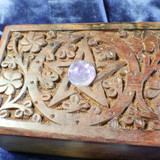 Charging and Cleansing Pentagram Altar Box for Your Metaphysical Treasures!