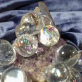 Three Metaphysical Rainbow Quartz Crystal Balls Radiate White Magick!
