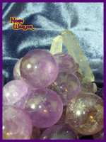 3 Amethyst Sphere Crystal Balls for Psychic Energy and Spirit Offerings