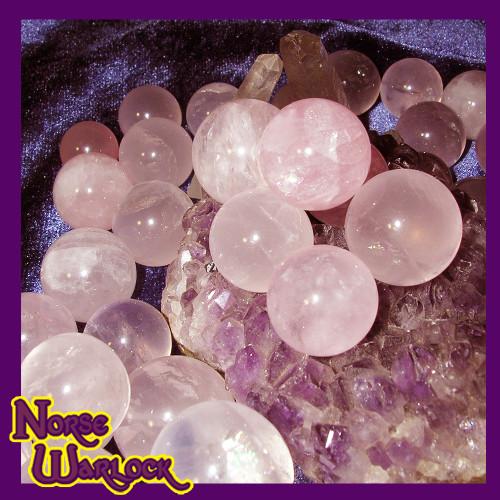 3 Healing Rose Quartz Spheres