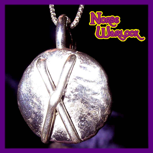 Gebo Rune Pendant for Friendship, Gifts and Connection to The Gods