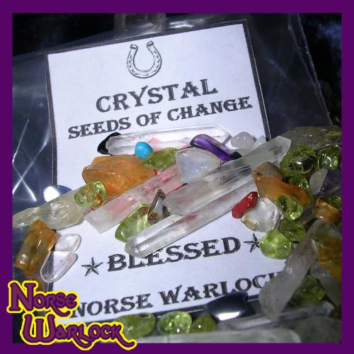 Enchanted Crystal Seeds of Change, Metaphysical Wishing Gemstones
