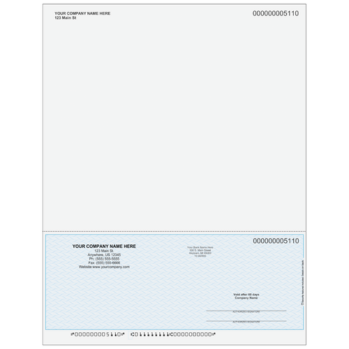 5110SKYA - Multi-Purpose Bottom Business Check