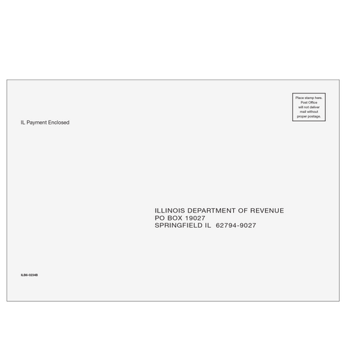 ILB610 - Illinois Balance Due Envelope