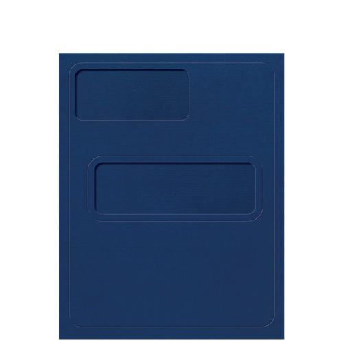 80XXX - Debossed Folder with Offset Windows