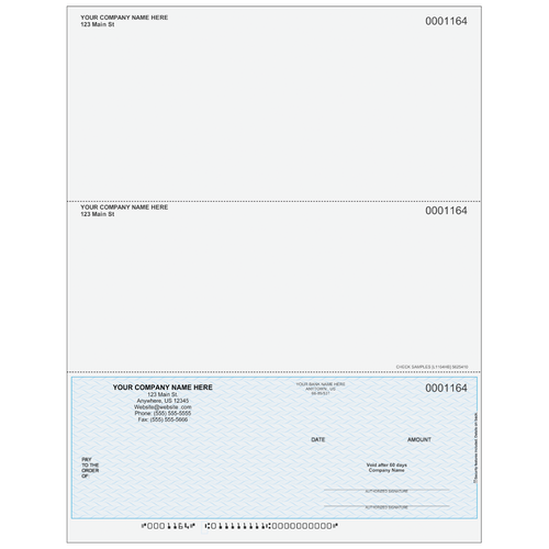 L1164 - Multi-Purpose Bottom Business Check