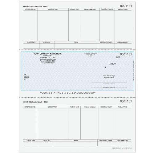 L1131 - Accounts Payable Middle Business Check